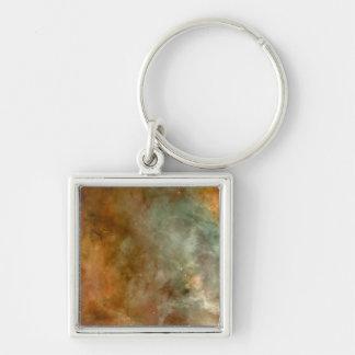 NASAs Carina Silver-Colored Square Key Ring