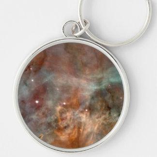 NASAs Carina Silver-Colored Round Key Ring