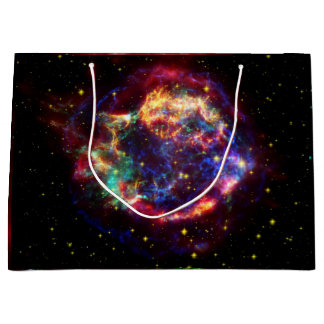 NASAs Cassiopeaia galaxy Large Gift Bag