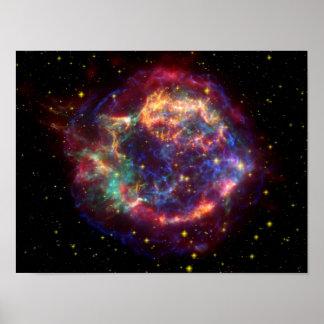 NASAs Cassiopeaia galaxy Poster