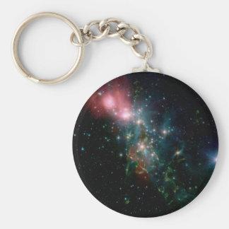 NASAs Chaotic Star Birth Basic Round Button Key Ring