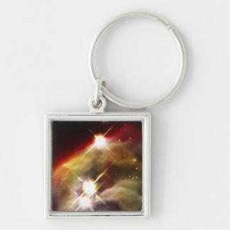NASAs Cone Nebula Silver-Colored Square Key Ring