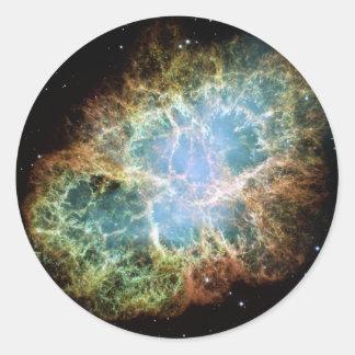 NASAs Crab Nebula Round Sticker