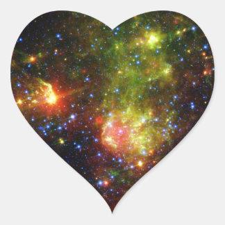 NASAs Dusty death of a massive star Heart Sticker