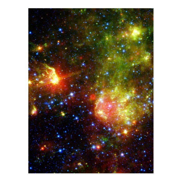 NASAs Dusty death of a massive star Postcard