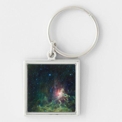 NASAs Flaming star Key Chains