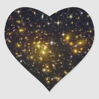 NASAs galaxy Abell Heart Sticker