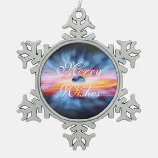 NASAs Galaxy Active nucleus AGN Snowflake Pewter Christmas Ornament
