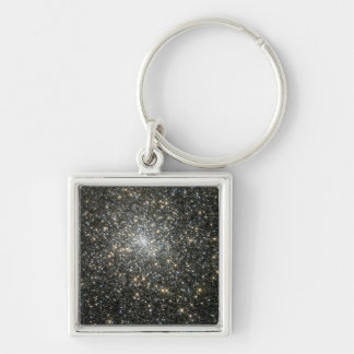 NASAs M15 star cluster Silver-Colored Square Key Ring