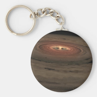 NASAs - Mini Solar System in the Making Basic Round Button Key Ring