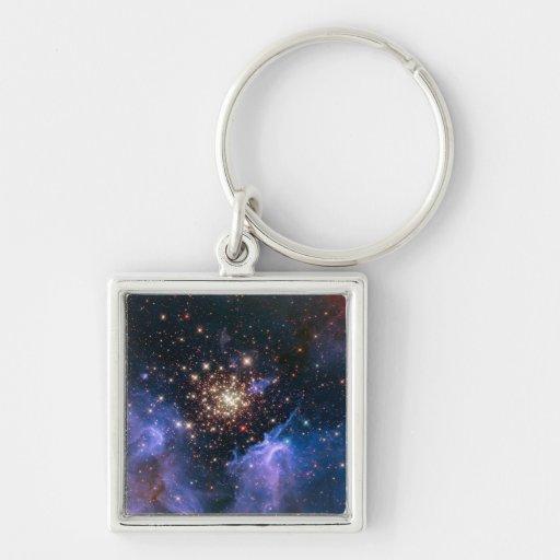 NASAs NGC3603 star cluster Key Chain