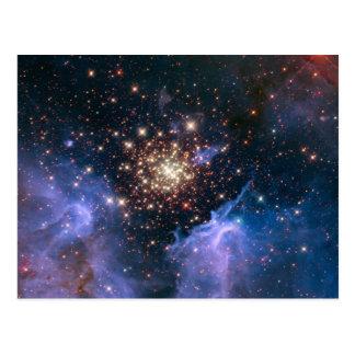 NASAs NGC3603 star cluster Postcard