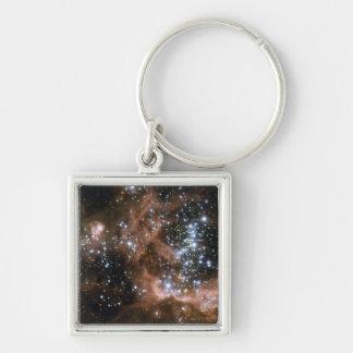 NASAs NGC604 galaxy Silver-Colored Square Key Ring