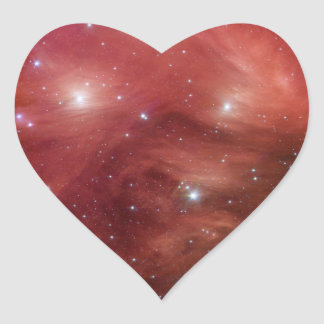 NASAs - Pink Pleiades Heart Sticker