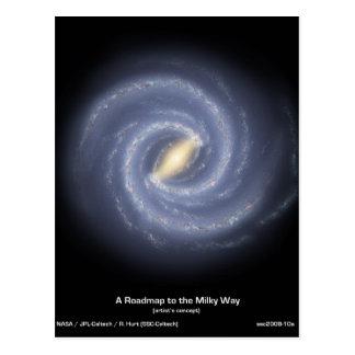 NASA's Road map to the Milky Way Postcard