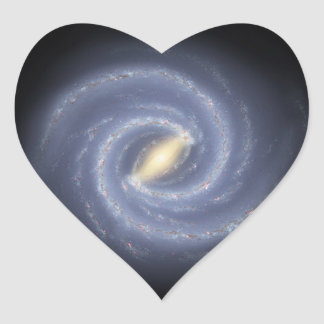 NASA's Road map to the Milky Way Heart Stickers