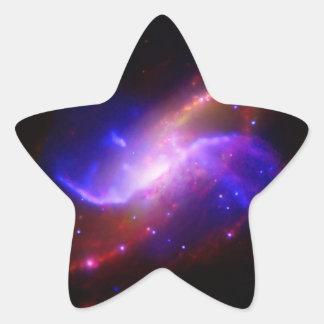 NASAs spiral galaxy M106 Star Sticker