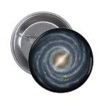 NASAs Sun in the Milky way 6 Cm Round Badge