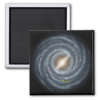 NASAs Sun in the Milky way Square Magnet