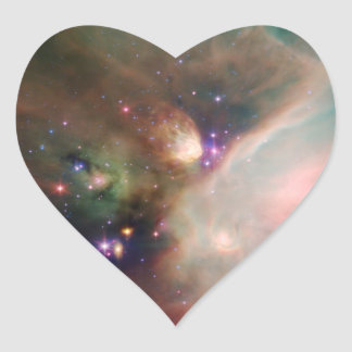 NASAs Young Stars Heart Stickers