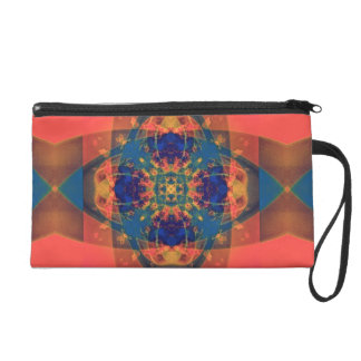 Nascent Yellow Funky Bright Abstract Wristlet Purse