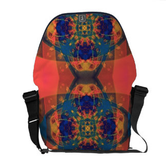 Nascent Yellow Funky Bright Abstract Courier Bags