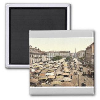 Nasch Market, Vienna, Austro-Hungary magnificent P Magnet
