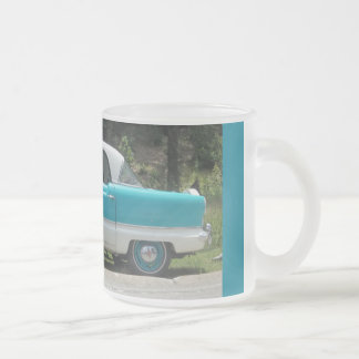 Nash Hudson Metropolitian blue and white Frosted Glass Coffee Mug