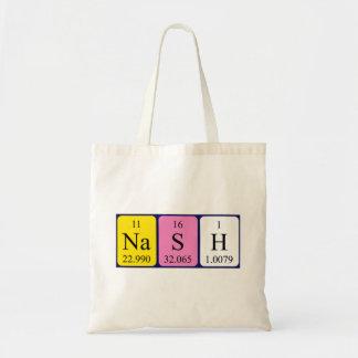 Nash periodic table name tote bag