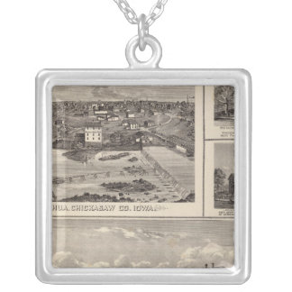 Nashua farm and residence silver plated necklace