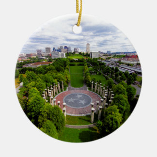 Nashville Aerial photo Round Ceramic Decoration