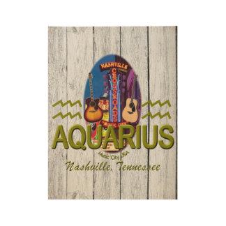 """Nashville Aquarius, 19"""" x 14.5"""" Wood Poster"""