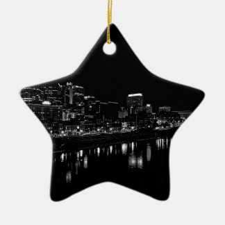 Nashville At Night Christmas Ornament
