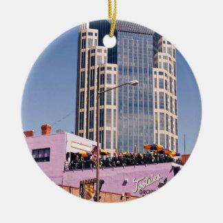 Nashville Batman Iconic Building Round Ceramic Decoration