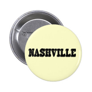 Nashville Black Block 6 Cm Round Badge