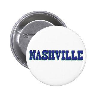 Nashville Blue Block 6 Cm Round Badge