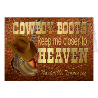 Nashville Boots Note Card, envelopes included Card