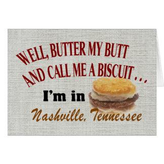 Nashville Butter Note Card, envelopes included Card