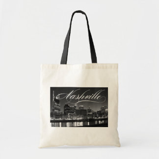 Nashville by Night Tennessee TN Tote Bag