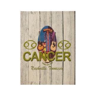 """Nashville Cancer, 19"""" x 14.5"""" Wood Poster"""
