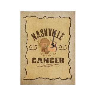 Nashville Cancer Zodiac Wood Poster - BRN