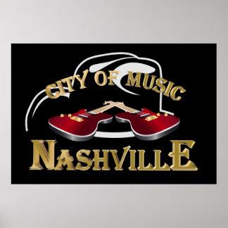 Nashville. City of music Poster