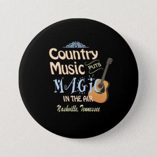 Nashville Country Music Magic Round Button