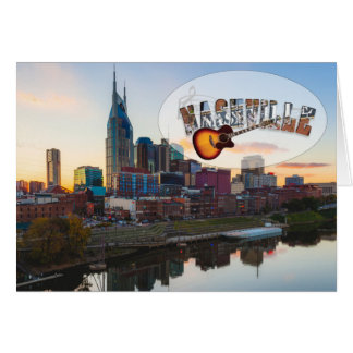 Nashville Downtown Note Card, envelopes included Card