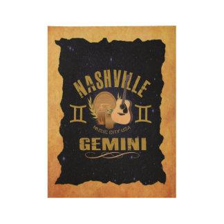 Nashville Gemini Wood Poster