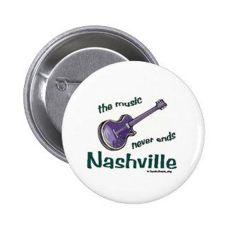 Nashville Guitar 6 Cm Round Badge