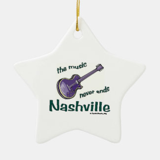 Nashville Guitar Christmas Ornament