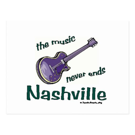 Nashville Guitar Post Card