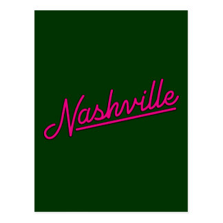 Nashville in Magenta Postcard