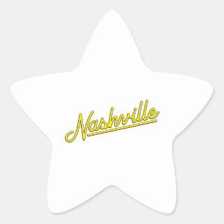Nashville in Yellow Star Sticker
